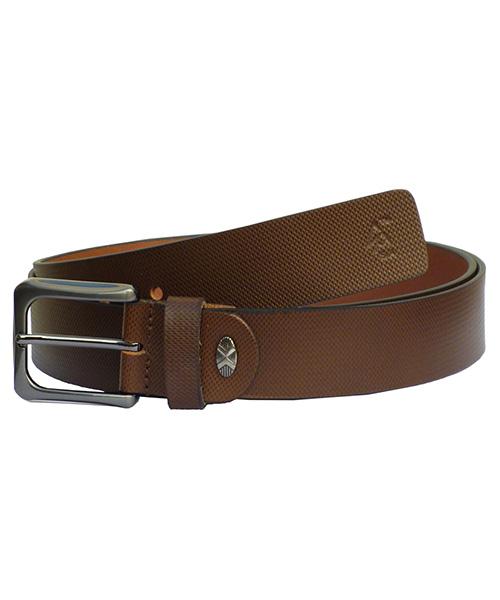 Sondagar Arts Brown Italian Leather Belt For Men