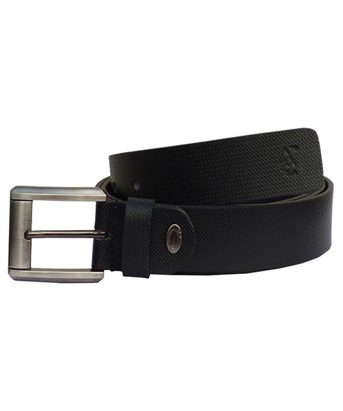 Sondagar Arts Black Italian Leather Belt For Men