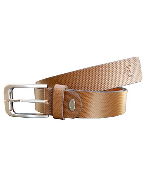 Sondagar Arts Men Formal Brown Genuine Leather Belt