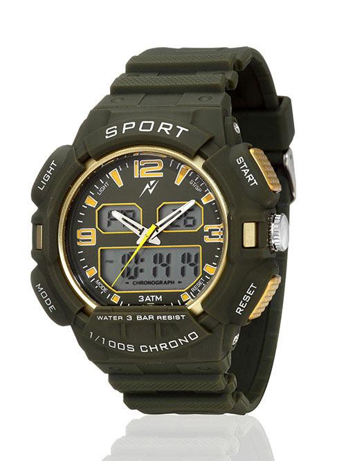 Yepme Men's Analog Digital Watch - Green