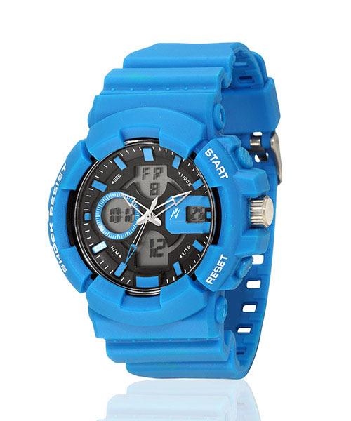 Yepme Men's Analog Digital Watch -Black/Blue