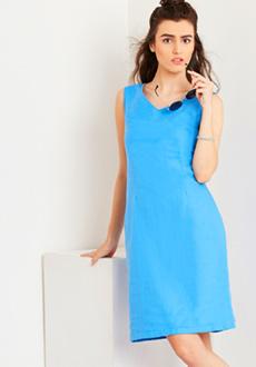 Yepme Roselle Linen Dress - Blue