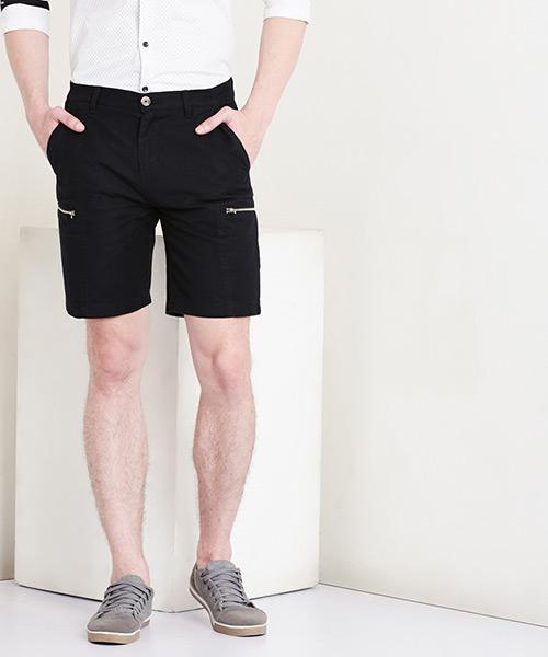 Yepme Eugene Linen Shorts - Black