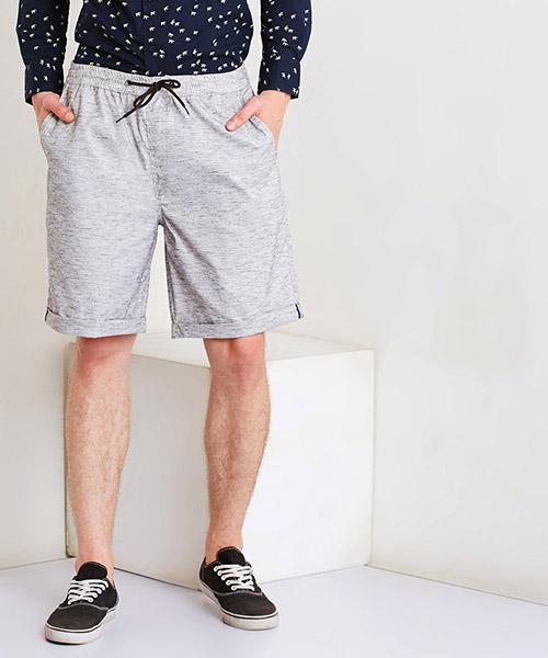 Yepme Daylan Linen Shorts - Grey