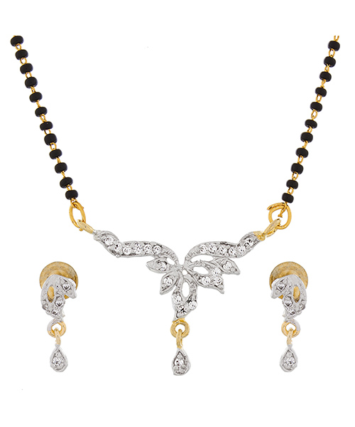 Unique Gold Plated American Diamond Mangalsutra
