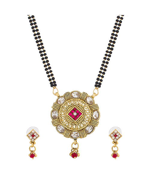 Gold Plated Traditional Wear Mangalsutra Set