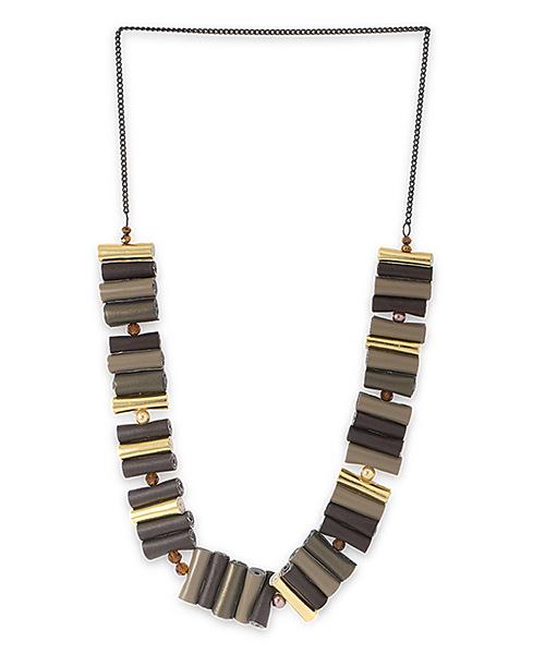 Voylla Antique Brass Plated Necklace