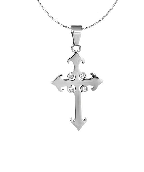 Voylla Sterling Silver Christ Mark Pendant
