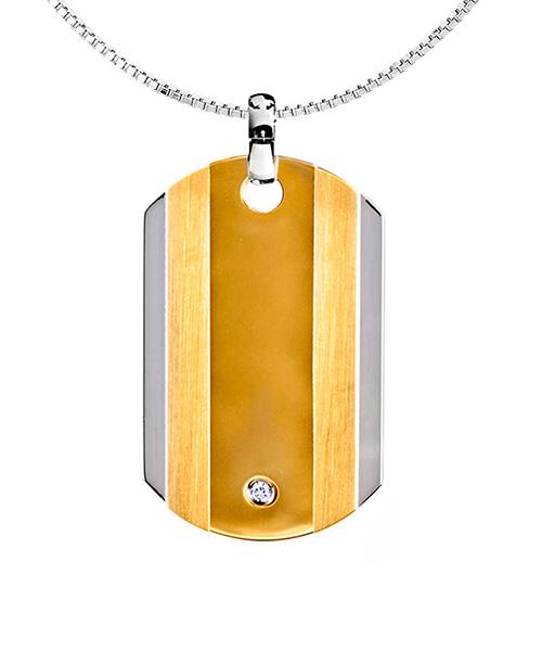 Voylla Sterling Silver Classy Pendant With Diamond Sparkling