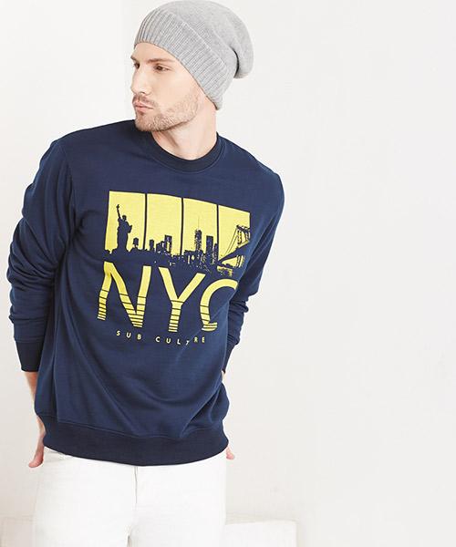 Yepme Bob Printed Sweatshirt - Blue