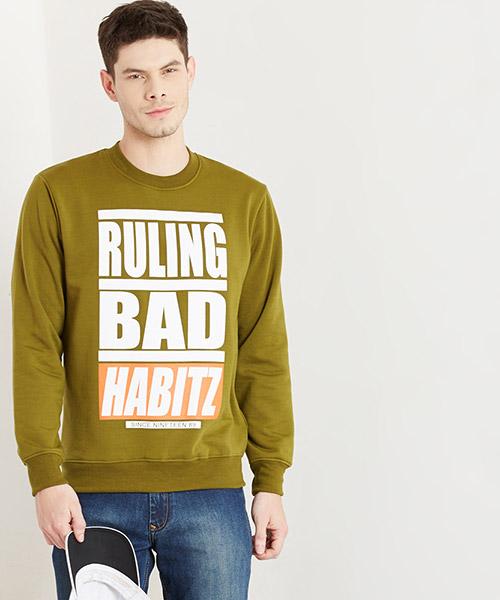 Yepme Bob Round Neck Sweatshirt - Green