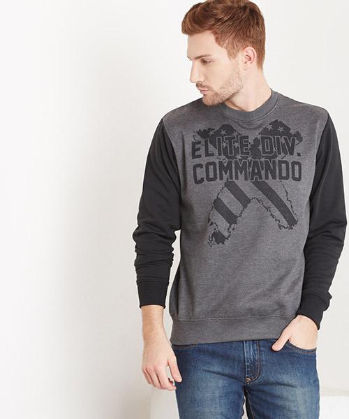 Yepme Stan Round Neck Sweatshirt - Black