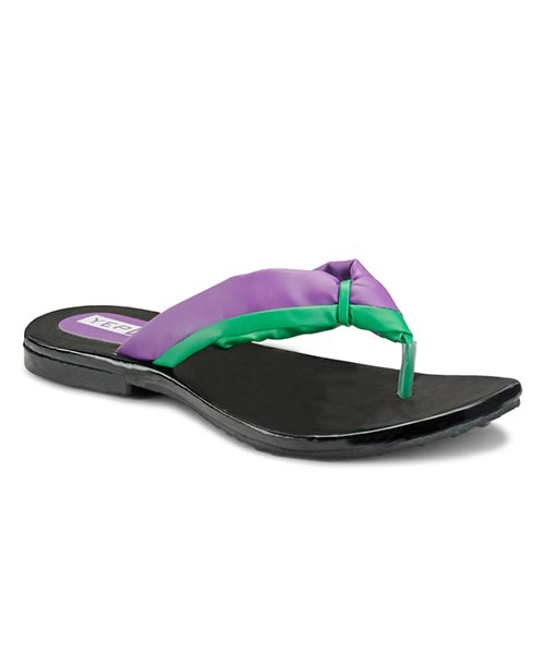 Yepme Green & Purple Sandals