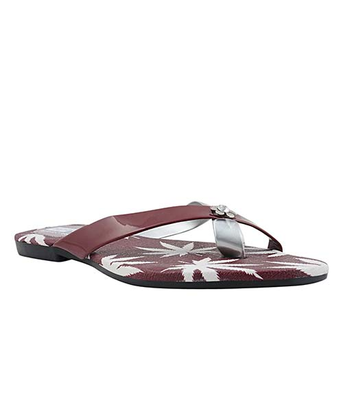 Yepme Red & Silver Sandals