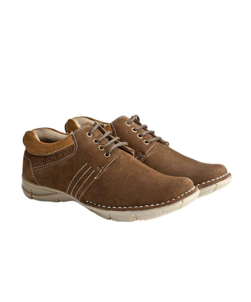 Yepme Brown Casual Suede Leather Shoes