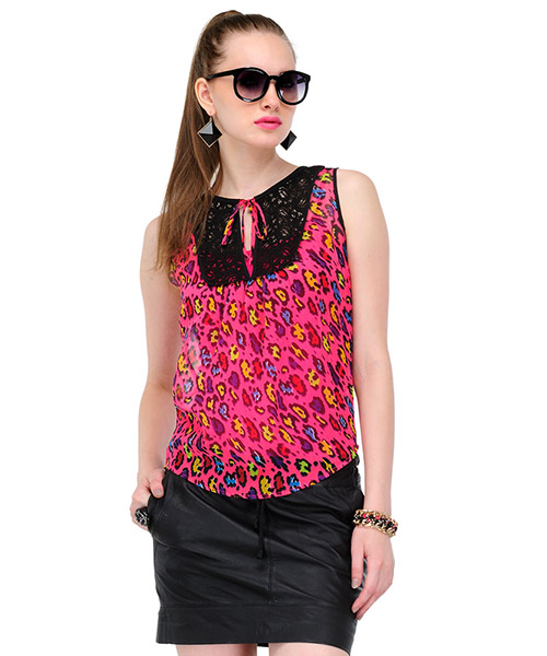 ec402244f027 Yepme Krina Lace Top Pink available at Yepme for Rs.499