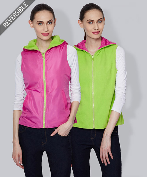 Yepme Emma Reversible Jacket - Pink & Green