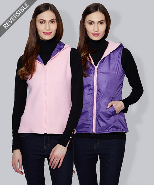 Yepme Emma Reversible Jacket - Purple & Pink