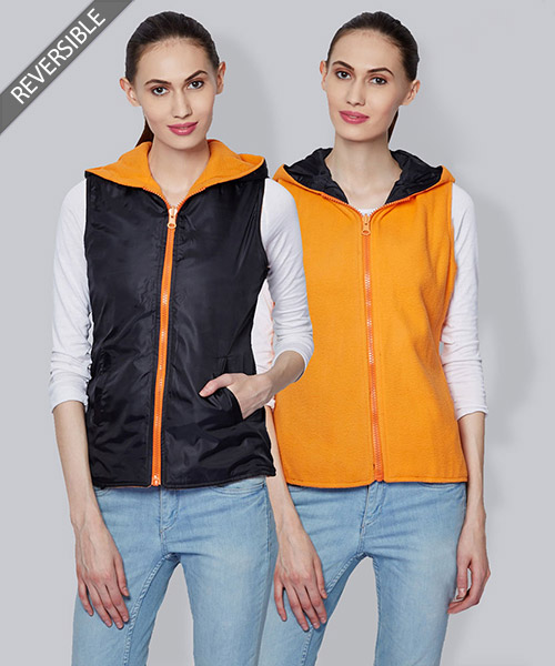 Yepme Emma Reversible Jacket - Black & Orange