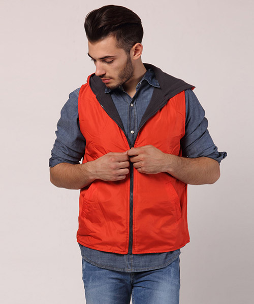 Yepme Gonzalo Reversible Jacket - Orange & Grey