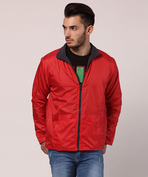 Yepme Matt Reversible Jacket - Red & Grey