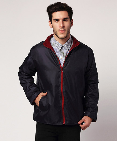 Yepme Matt Reversible Jacket - Blue & Maroon