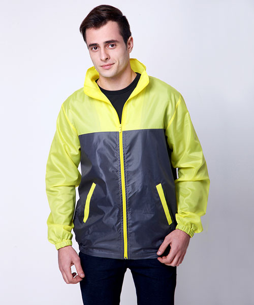 Yepme Altor Biker Jacket - Grey & Yellow
