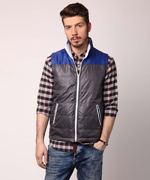 Yepme Martin Sleeveless Jacket - Blue