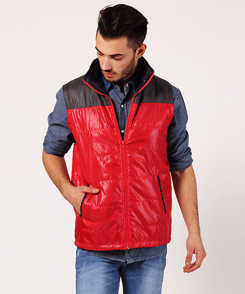 Yepme Martin Sleeveless Jacket - Red