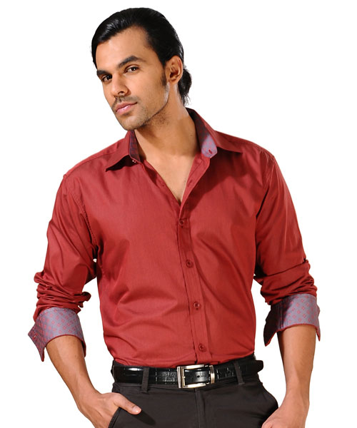 Yepme Maroon Party Wear Shirt