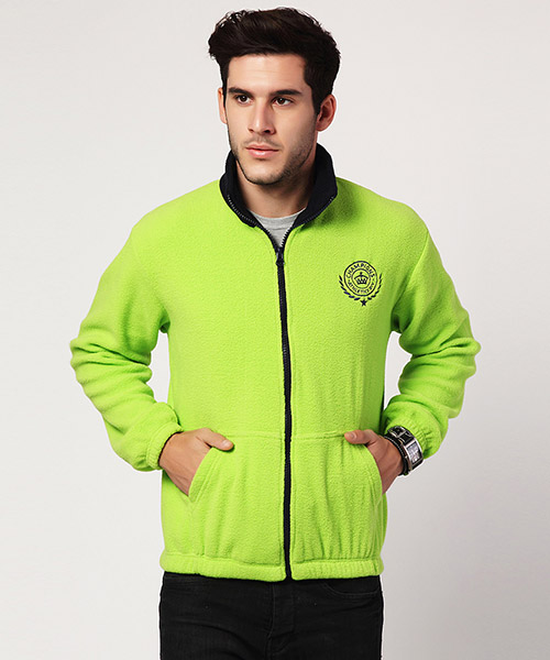 Yepme Jack Fleece Jacket - Green & Blue