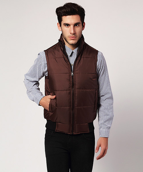 Yepme Jacob Sleeveless Jacket - Brown