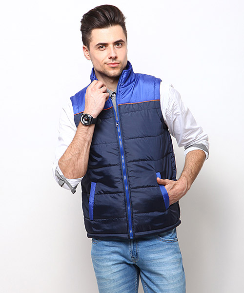 Yepme Blake Sleeveless Jacket - Blue