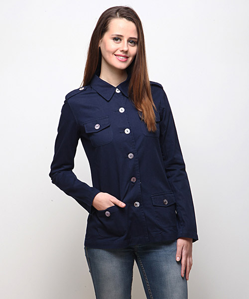 Yepme Alexa Casual Jacket - Navy Blue