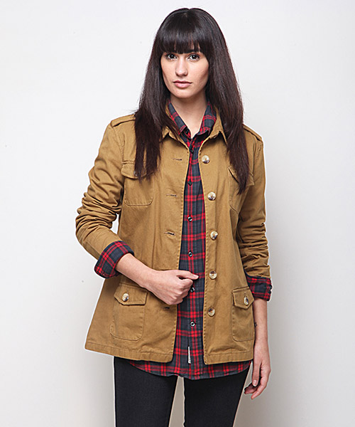 Yepme Alexa Twill Jacket -Brown