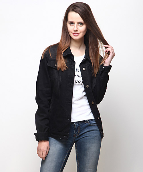 Rene Denim Jacket - Black Online Shopping | 51500