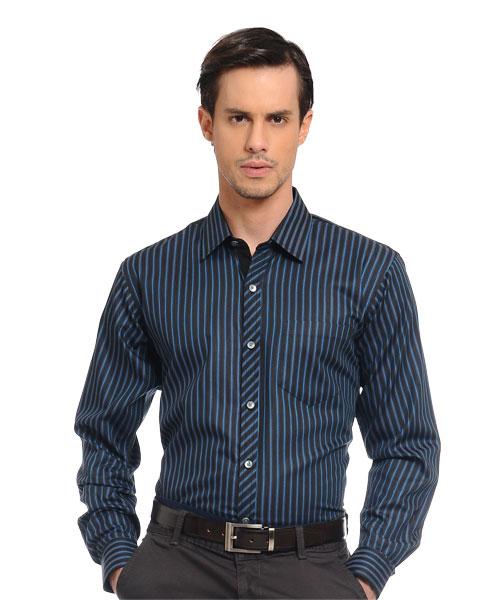 Yepme Blue Stripes Party Shirt
