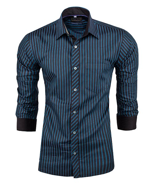 Yepme Blue Stripes Party Shirt