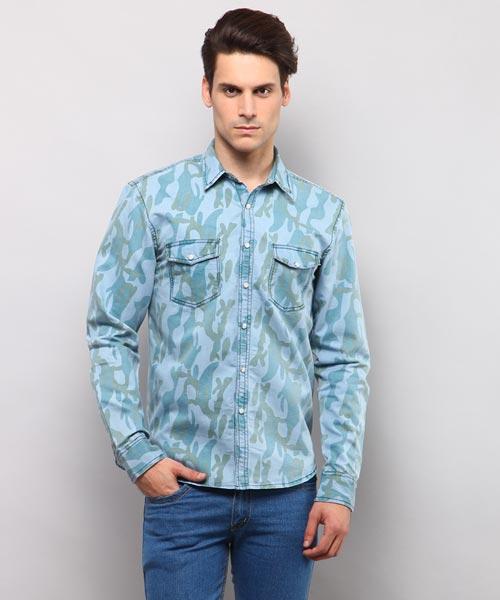 2e36688069feb Denim Shirts - Buy Denim Shirts for Men Online in India at Yepme