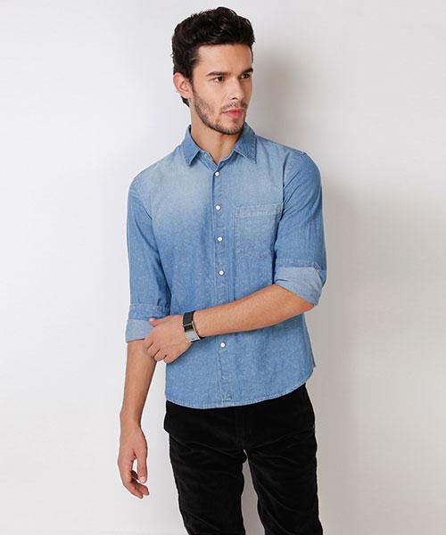 bd9d8d6ed8e Denim Shirts - Buy Denim Shirts for Men Online in India at Yepme