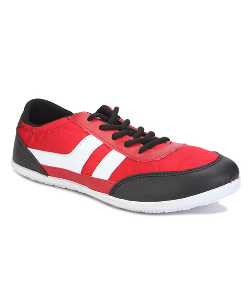 Yepme Casual Shoes - Black & Red