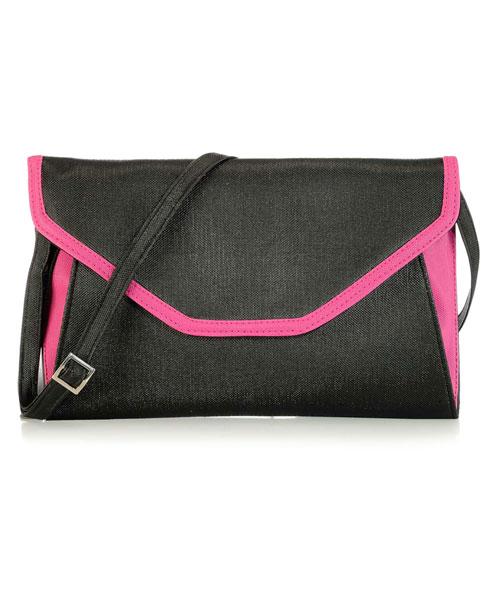 Messenger Sling Bag - Black & Pink Online Shopping | 68756