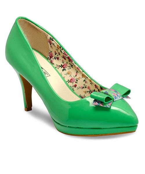 Yepme Green Stilettos Pumps  YIMVNO0OM