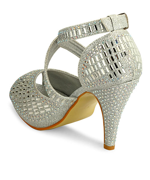 0ae8a86c306 Silver Party Wear Heels Online Shopping | 69284