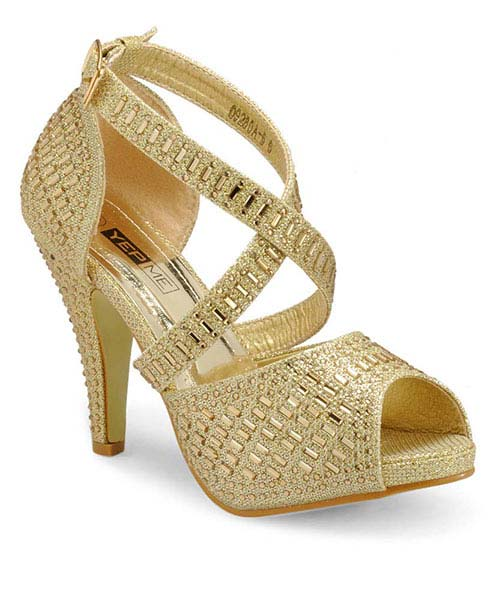 e51f01aae7c Golden Party Wear Heels Online Shopping | 69285
