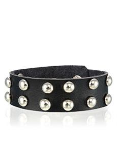Yepme Men's Studded Bracelet - Black & Silver