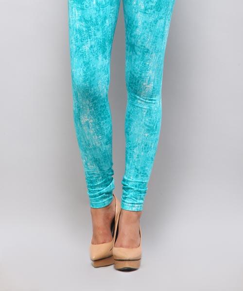 Yepme Alexis Printed Leggings - Blue