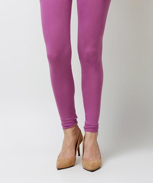 Yepme Abril Solid Leggings - Purple