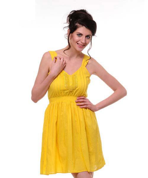 Yepme Gloriann Dress - Yellow