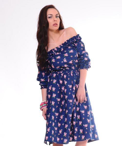 Yepme Blue Printed Dress
